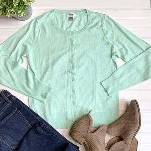 OLD NAVY Teal long Sleeve Button Up Sweater